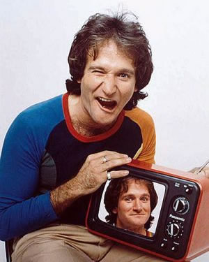 Robin Williams by Michael Dressler 1979