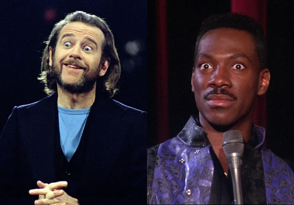George Carlin and Eddie Murphy